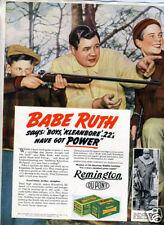 1938 Remington Gun Catalog w/ Babe Ruth Advertisement