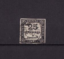 timbre France TAXE  carré  25c noir   num: 5   oblitéré