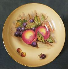 Fine large hand painted & gilded Orchard Gold Aynsley footed comport - D. Jones