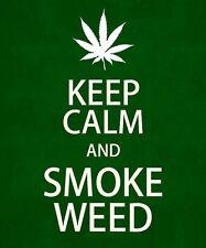 "3.25"" Funny Marijuana sticker / decal. SMOKE WEED. Great on glass bong or pipe."