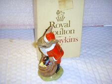 "Royal Doulton Db 17 ""Santa Bunnykins"" Merry Christmas Mib 4 1/4"""