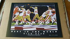 "Joe Montana Lithograph Ltd. Edition "" Best In The World "" Rick Rush"