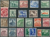 Stamp Germany Year 1940 Mi 739-59 Set WWII 3rd Reich Helgoland Blue Ribbon U