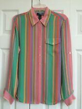 "Ralph LAUREN ""Black Label"" Silk Stripe Shirt - Size 8"