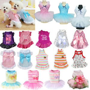 Pet Clothes Small Dog Cat Dress Cute Princess Chihuahua Puppy Skirt Dog Skirt