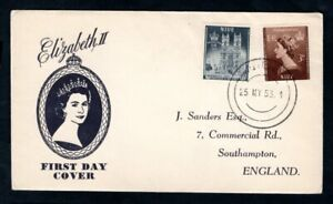 Niue - 1953 QE2 Coronation Illustrated First Day Cover