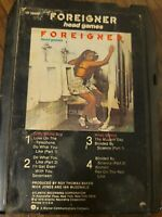 """Foreigner """"Head Games"""" 8 track tape tested and works perfectly"""