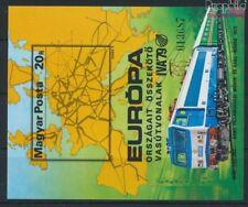 Hongrie Block137B neuf 1979 Développement le Chemin de fer (9077297