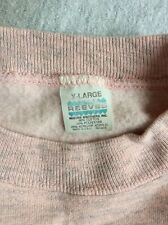 Vtg 80s Reeves Plain Heather Pink Raglan Sweatshirt L/XL Blank Tri Blend