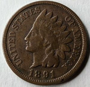 1891 - Indian Head Cent Variety - Snow-3 - RPD - 1891/1891 - Error Coin (Q526)