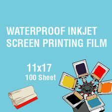 "Waterproof Inkjet Screen Printing Positive Film 11""x17"" 100 Sheets"