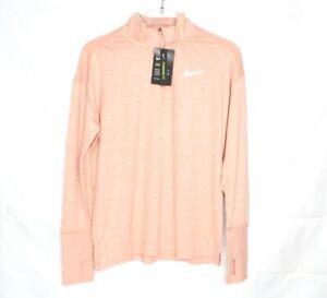Nike Women's Dri-Fit Element Half-Zip Long Sleeve Running Top Size M CU0349-606