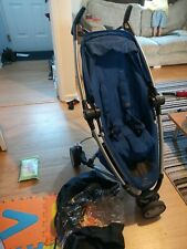 Quinny Zapp Xtra 2 Single Seat Blue Buggy Pushchair Forward Rear Face Stroller
