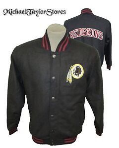 Washington Redskins NFL Men's Snap-Up Wool Blend Jacket