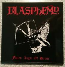 BLASPHEMY-FALLEN ANGEL OF DOOM...-PRINTED ENAMEL METAL PIN BADGE