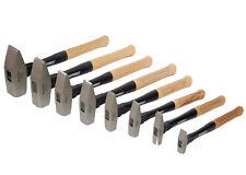 Schlosserhammer Hammer Set mit Hickory Holzstiel 100gr - 2000gr 8tlg.