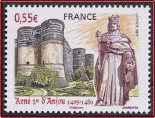 2009 FRANCE N°4326** René 1er d'Anjou, CHATEAU D'ANGERS, France 2009 MNH