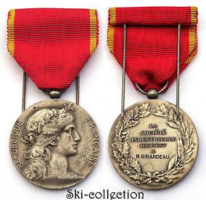 Médaille Société Industrielle de l'Est. France, vers 1930. 36 mm. ARGENT