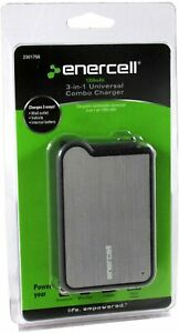 Enercell 1350mAh 3-In-1 Universal Portable Combo Car Charger - Grey