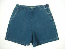 NWOT Ralph Lauren Women's Blue Denim Side Button Shorts Size 8