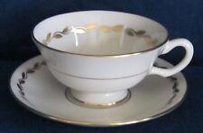 China Tea Cup and Saucer Lenox Golden Wreath Porcelain