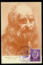 1952 Leonardo da Vinci 500y,Painter,sculptor,Inventor,Romania,1401,FDC/Maxi card