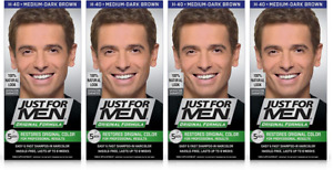 Just For Men Original Formula Restores Hair Color, Medium Dark Brown (4 Pack)