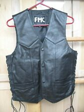Mens 36 FMC Leather Motorcycle Vest