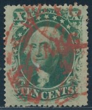 "#35 POS.62 -- XF -- USED RED ""PAID"" CANCEL BT761"
