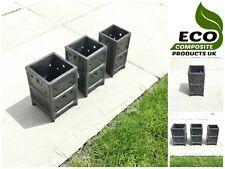 More details for saddar eco composite bolt down square fence post base support decking concrete