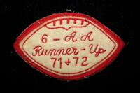 "VINTAGE 1970'S SCHOOL ALL STATE REGIONALS RED AND WHITE PATCH 4 1/2"" X 3"""