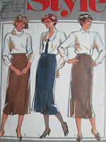 VINTAGE 90's STYLE SEWING PATTERN WOMAN'S SET OF SKIRT'S SIZE 8-10-12