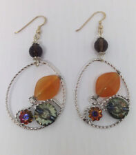 Colourful Stone and Crystal Earring