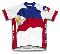 PHILIPPINES Cycling Jersey Retro Road Pro Clothing MTB Short Sleeve Bike Racing