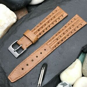 17.25mm JB Champion Rally Perforated Ridge nos 1960s-1970s Vintage Watch Band