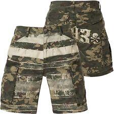 YAKUZA Death Core Cargo Shorts CSB-14038 Camouflage