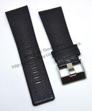 Comp. Diesel DZ1333 DZ7138 DZ7241 - 28mm Black Genuine Leather Watch Strap Band