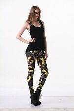Women Legging Yellow black batman printed Leggings Galaxy leggings  S-4XL 1