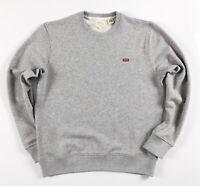 Levis Sweatshirt Men's Crew Neck Housemark Logo Patch Grey Heather 39862-0001
