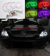 4x RGB Multi-Color Angel Eyes kit Halo Rings For LEXUS RX300 RX330 RX350 RX400h