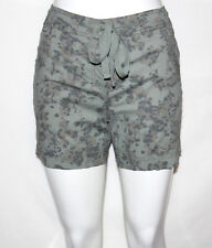 NEW Style & Co. Size 4Petite Printed Drawstring Boyfriend Shorts GREEN