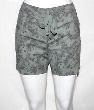 NEW Style & Co. Size 4Petite Printed Drawstring Boyfriend Shorts GREEN