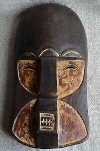 Face Mask Carved Wood Teeth polychrome 38x20x9 cm 842 g