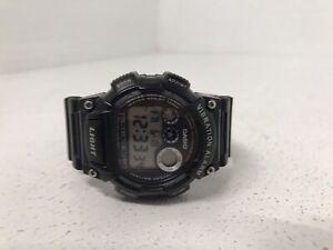 Casio Watch W-735H Black Water Resistant Mens Accessories Watch