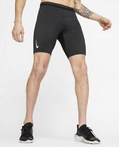 Nike AEROSWIFT 1/2 Men's Running Tights Large Black CJ7843-010