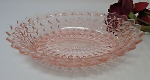 """Jeannette Holiday Buttons and Bows Pink Oval Vegetable Bowl 9.5"""""""
