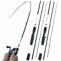 Spinning Casting Carbon Fishing Rod Lure 7-28g M Power Light Travel Pole 1.8M