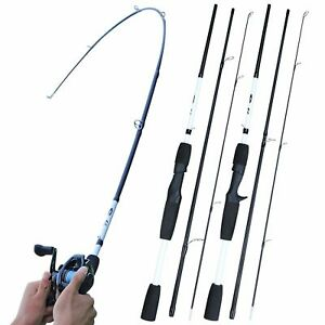 Spinning Fishing Rod Carbon Lure Casting Travel Pole 7-28g M Power Light 1.8M