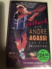 TENNIS  ATTACK WITH ANDRE AGASII  VHS PAL VIDEO  A RARE FIND