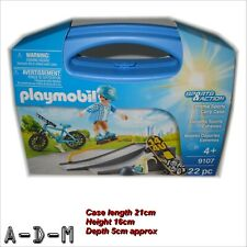 Playmobil 9107 Sports & Action Extreme Sports Carry Case Skateboard Bike
